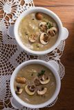 сметанообразный суп гриба суп гриба Стоковые Изображения RF