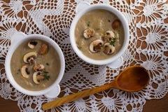 сметанообразный суп гриба суп гриба Стоковые Изображения