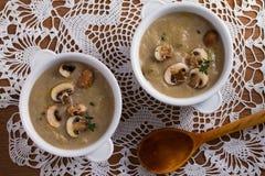 сметанообразный суп гриба суп гриба Стоковое Фото