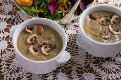 сметанообразный суп гриба суп гриба Стоковая Фотография