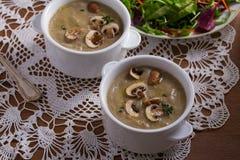 сметанообразный суп гриба суп гриба Стоковая Фотография RF