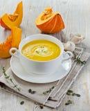 Сметанообразный суп тыквы стоковое фото rf