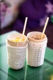 Сметанообразный Milkshake с candied плодоовощ Стоковое Изображение RF