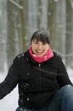 Смех зимы стоковое изображение rf