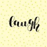 смех Литерность щетки Стоковые Фотографии RF