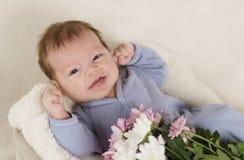 Смех младенца Стоковые Фото