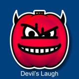 Смех дьявола Smiley хеллоуина вектора Стоковые Изображения RF