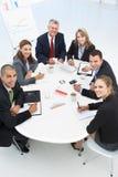 смешанная встреча бизнес-группы стоковая фотография rf