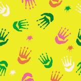 Смешанная картина handprints иллюстрация вектора