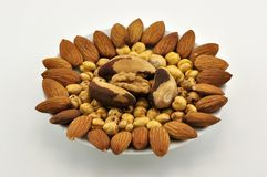 смешанная nuts плита Стоковое Изображение RF