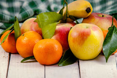 Смешанное свежих фруктов Стоковая Фотография RF