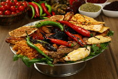 Смешанное турецкое kebab Стоковые Изображения