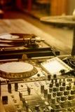 Смешанные аудио и turntable Стоковые Фото