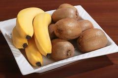 Смешанные банан и киви плодоовощ Стоковые Фотографии RF