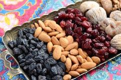 Смешанные высушенные плодоовощи и гайки в восточном стиле Стоковое Изображение