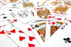 Смешанные играя карточки Стоковое Изображение RF