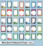 Смешанные картинные рамки карточки торговой операции спортов Стоковое Изображение