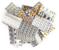 Смешанные лекарства изолированные на белой предпосылке Стоковые Фото