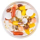 Смешанные лекарства изолированные на белой предпосылке Стоковая Фотография RF