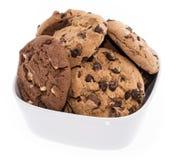 Смешанные печенья в шаре на белизне Стоковое Фото