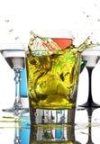 смешанные пить брызгают желтый цвет Стоковое Изображение RF