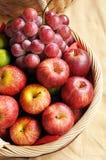 Смешанные плодоовощи в корзине Стоковое Изображение RF