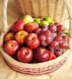 Смешанные плодоовощи в корзине Стоковое Фото