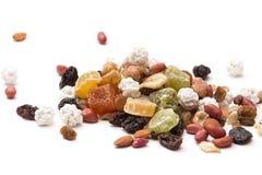 Смешанные сухофрукт, гайки и семена, изюминки стоковое изображение