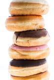Смешанные Donuts изолированные на белизне Стоковое Фото