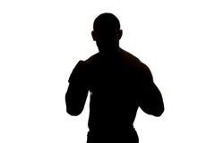 Смешанный боец боевых искусств готовый для боя Стоковые Изображения
