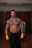 Смешанный боец боевых искусств готовый для боя Стоковые Изображения RF