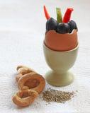 смешанный завтрак Стоковые Изображения