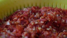 Смешанный затир chili Съемка укладки в форме видеоматериал