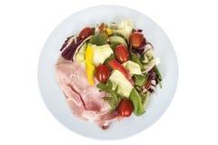 Смешанный здоровый красочный салат ветчины Стоковое Изображение RF