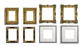 Смешанный комплект картинных рамок половинных с тенями Стоковое Фото