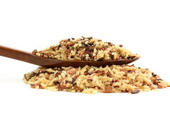 Смешанный одичалый органический коричневый рис Стоковые Фотографии RF