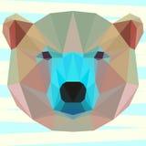 Смешанный покрашенный абстрактный геометрический полигональный белый медведь иллюстрация штока