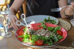 Смешанный салат для обедающего Стоковое Изображение RF