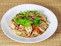 Смешанный салат или Yummy смешанный Yum mit Ruom, с свининой, краб, mea Стоковая Фотография
