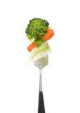 Смешанный салат на вилке Стоковые Фотографии RF