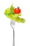 Смешанный салат на вилке Стоковые Изображения