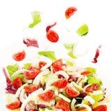 Смешанный салат, салат, radicchio, фенхель, томаты pachino Стоковая Фотография