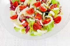 Смешанный салат, салат, radicchio, фенхель, томаты pachino Стоковая Фотография RF