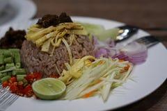 смешанный шримс риса затира Стоковая Фотография