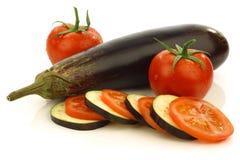 смешанный aubergine отрезанный томат Суринама Стоковые Фото