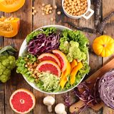 Смешанный vegetable салат стоковые изображения
