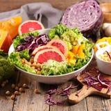 Смешанный vegetable салат стоковое изображение rf