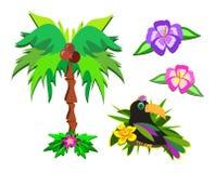 смешивание жизни тропическое иллюстрация вектора