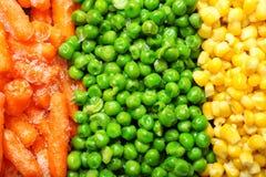 Смешивание замороженных овощей как предпосылка стоковое изображение