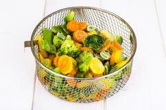 Смешивание замороженных овощей стоковое изображение